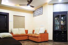 THIRUVANMAYUR BEACH HOUSE..: asian Living room by Ashpra Interiors