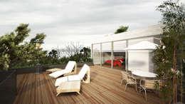 Terrasse de style  par Sulkin Askenazi