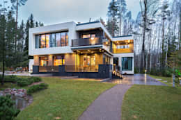 Частный жилой дом в современном стиле:  в . Автор – Дмитрий Кругляк