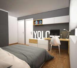 CERRO AZUL: Habitaciones de estilo escandinavo por Kuro Design Studio