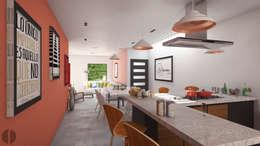 Cocinas de estilo minimalista por Laboratorio Mexicano de Arquitectura