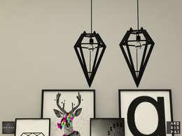 Livings de estilo escandinavo por Arquitecto Ariel Ramírez