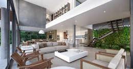 Salas de estilo minimalista por Martins Lucena Arquitetos
