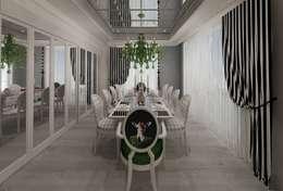 Mimoza Mimarlık – EVRIM & GUNAY ASLAN EVI: eklektik tarz tarz Yemek Odası