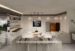 Mimoza Mimarlık – EVRIM & GUNAY ASLAN EVI: eklektik tarz tarz Oturma Odası