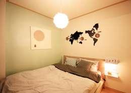[홈라떼] 내츄럴 오피스텔 침실: homelatte의  침실