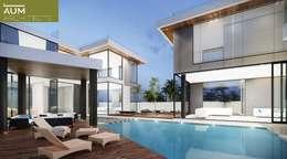 24000 sqft (2230 sqm) double Villa in Dubai: modern Pool by Aum Architects