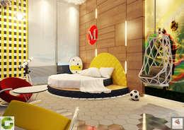 24000 sqft (2230 sqm) double Villa in Dubai: modern Bedroom by Aum Architects