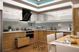 PASART DESİGN – BAĞÇEŞME PROJE 3D GÖRSELLER: klasik tarz tarz Mutfak