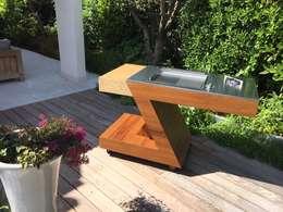 ZED EXPERIENCE versione BBQ: Giardino in stile in stile Eclettico di ZED EXPERIENCE - indoor & outdoor kitchen