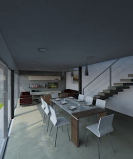 modern Dining room by CCA|arquitectos