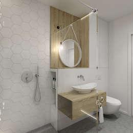 Mieszkanie Warszawa Bartycka: styl , w kategorii Łazienka zaprojektowany przez INSIDEarch