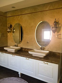 YASEMİN ALTINOK MİMARLIK – F.Ö. Evi: akdeniz tarzı tarz Banyo