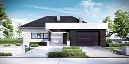 Projekt domu HoemKONCEPT 32: styl nowoczesne, w kategorii Domy zaprojektowany przez HomeKONCEPT | Projekty Domów Nowoczesnych
