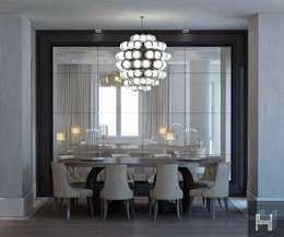 ÖZHAN HAZIRLAR İÇ MİMARLIK – Florya evi: modern tarz Yemek Odası