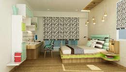 Dormitorios infantiles de estilo moderno por Nestopia