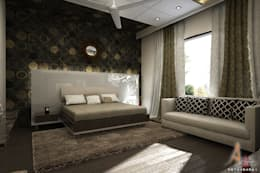 master bedroom 3: modern Bedroom by A Mans Creation