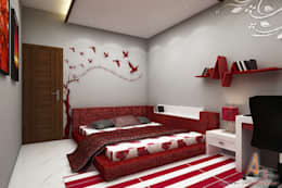 daughter's room: modern Bedroom by A Mans Creation
