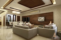 hospital: modern Living room by A Mans Creation