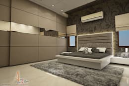 master bedroom: modern Bedroom by A Mans Creation