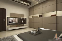 mster bedroom: modern Bedroom by A Mans Creation