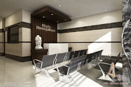 reception: modern Living room by A Mans Creation