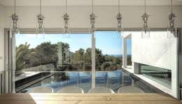 Projekty,  Salon zaprojektowane przez MG&AG.ARQUITECTOS