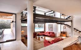 Salas / recibidores de estilo moderno por MG&AG.ARQUITECTOS