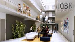 Salas / recibidores de estilo moderno por QBK Arquitectura