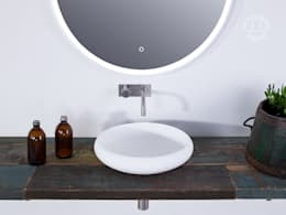 Copenhagen Bath - Rosenborg rund Waschbecken: skandinavische Badezimmer von Copenhagen Bath