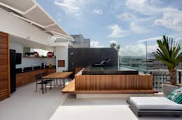 Albercas de estilo moderno por Studio Eloy e Freitas Arquitetura e Interiores