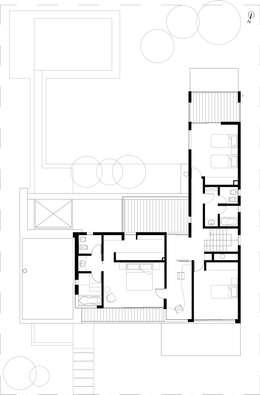 PLANTA ALTA:  de estilo  por Poggi Schmit Arquitectura