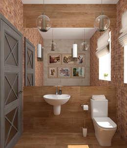 Baños de estilo ecléctico por Студия дизайна Дарьи Одарюк
