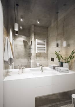 industrial Bathroom by Natalia Solo Design