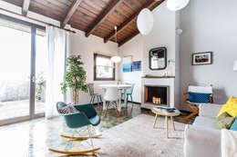 Projekty,  Salon zaprojektowane przez Boite Maison
