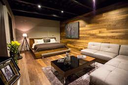 Dormitorios de estilo moderno por Con Contenedores S.A. de C.V.