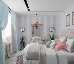 Студия дизайна Дарьи Одарюк: eklektik tarz tarz Yatak Odası