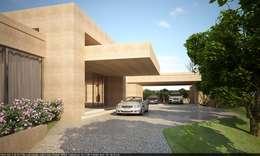 Garajes de estilo moderno por Lanza Arquitetos