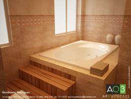 Residencia Rodriguez: Baños de estilo  por AQ3 Arquitectos