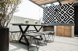 Terrazas en el techo de estilo  por Ploka 8.7