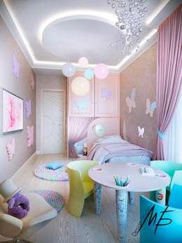 Погонный проезд: Детские комнаты в . Автор – Студия Марии Боровской