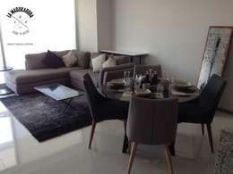 Departamento T300: Salas de estilo moderno por La Maquiladora / taller de ideas