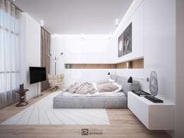 Интерьер квартиры 150 м2,г.Москва: Спальни в . Автор – DesignRush