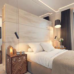 غرفة نوم تنفيذ IK-architects
