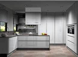 Cocinas de estilo moderno por Amplitude - Mobiliário lda