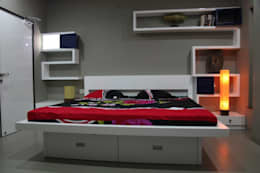 pent house for Mr. Jahagirdar At nanded: modern Bedroom by 4th axis design studio