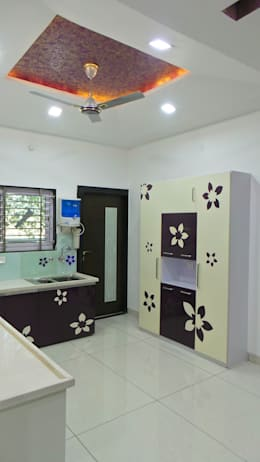 MR. Sanjay : modern Kitchen by Shadab Anwari & Associates.