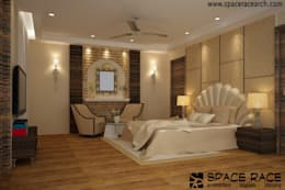 Residence at Lajpat Nagar Jalandhar (Bantu Sabhawal): classic Bedroom by Spacerace