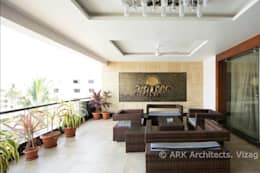Hirawats House:  Terrace by ARK Architects & Interior Designers