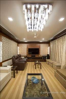 Hirawats House: modern Media room by ARK Architects & Interior Designers